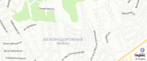 Мостостроителей 4-й проезд на карте Улан-Удэ с номерами домов