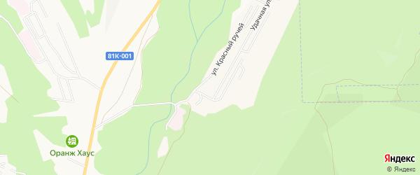 Дачное некоммерческое партнерство ДНТ Спутник на карте села Нижнего Саянтуя с номерами домов