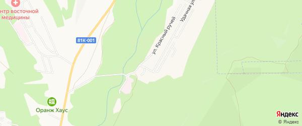 Дачное некоммерческое партнерство Жарки на карте села Нижнего Саянтуя с номерами домов