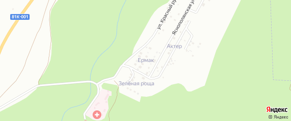 Брусничная улица на карте дачного некоммерческого партнерства Жарки с номерами домов