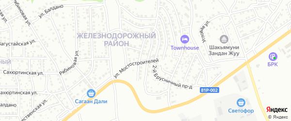 Мостостроителей 10-й проезд на карте Улан-Удэ с номерами домов