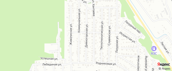 Дивногорская улица на карте Улан-Удэ с номерами домов