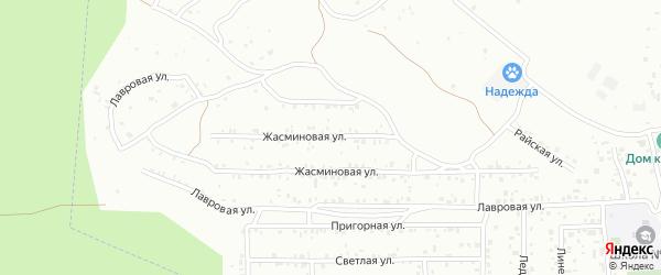 Жасминовая улица на карте Улан-Удэ с номерами домов