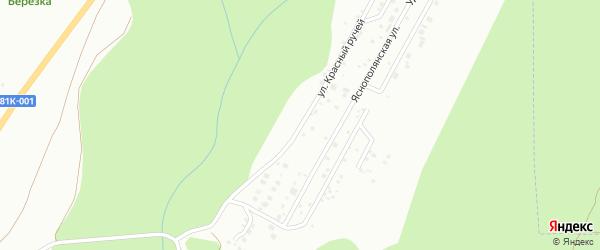 Улица Красный ручей на карте территории ДНТ Зеленая роща с номерами домов