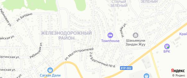 Улица Подорожная проезд 8 на карте Улан-Удэ с номерами домов