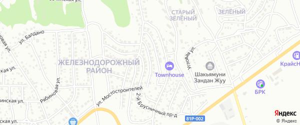 Мостостроителей 7-й проезд на карте Улан-Удэ с номерами домов