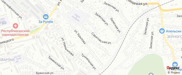 Саратовский переулок на карте Улан-Удэ с номерами домов