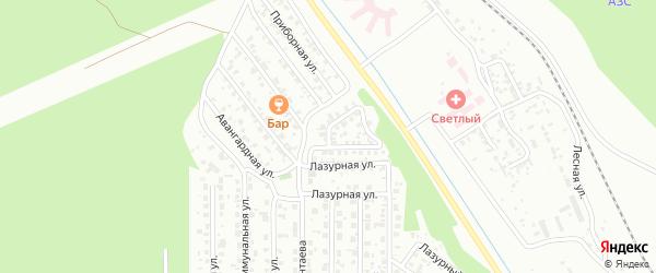 Серебристая улица на карте Улан-Удэ с номерами домов