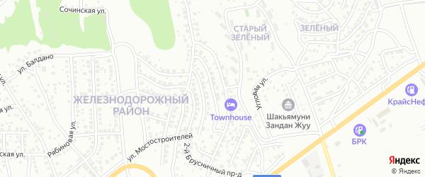 Мостостроителей 6-й проезд на карте Улан-Удэ с номерами домов