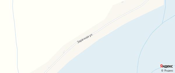 Заречная улица на карте села Малой Кудары с номерами домов