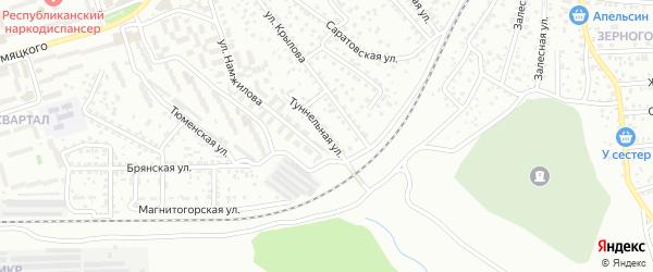 Туннельная улица на карте Улан-Удэ с номерами домов