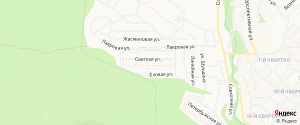 Территория ДНТ Оптимист на карте Улан-Удэ с номерами домов