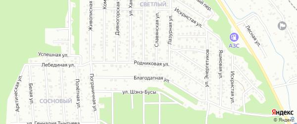Родниковая улица на карте Улан-Удэ с номерами домов