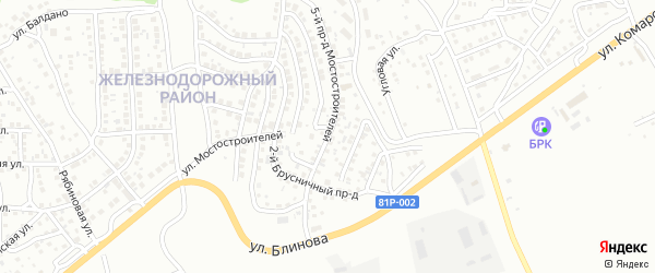 Мостостроителей 5-й проезд на карте Улан-Удэ с номерами домов