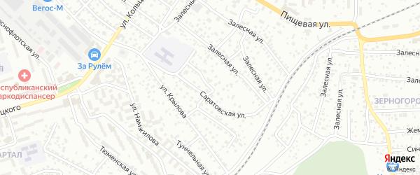 Саратовская улица на карте Улан-Удэ с номерами домов