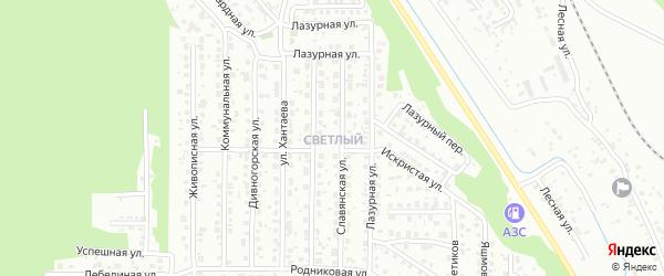 Светлый поселок на карте Улан-Удэ с номерами домов