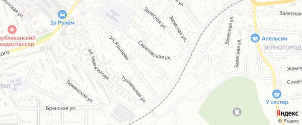Днепровская улица на карте Улан-Удэ с номерами домов