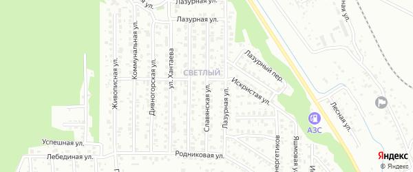 Славянская улица на карте Улан-Удэ с номерами домов