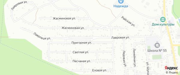 Лавровая улица на карте Улан-Удэ с номерами домов