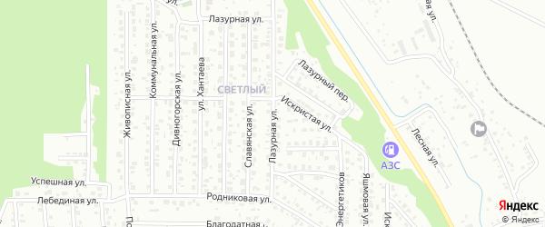 Лазурная улица на карте Улан-Удэ с номерами домов