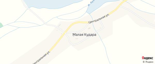 Школьная улица на карте села Малой Кудары с номерами домов
