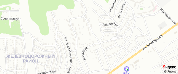 Зеленый поселок на карте Улан-Удэ с номерами домов