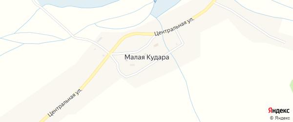 Загорная улица на карте села Малой Кудары с номерами домов