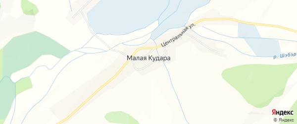 Карта села Малой Кудары в Бурятии с улицами и номерами домов