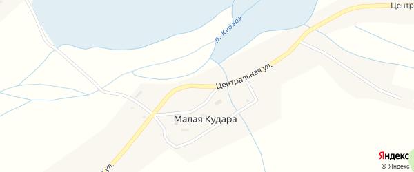 Центральная улица на карте села Малой Кудары с номерами домов