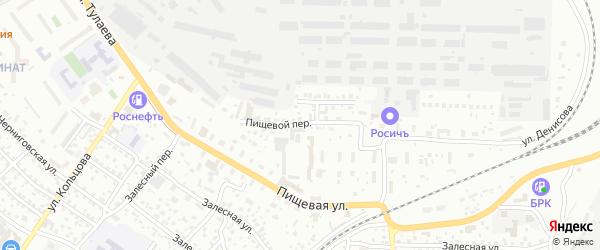 Пищевой переулок на карте Улан-Удэ с номерами домов