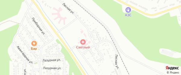 Лесная улица на карте Улан-Удэ с номерами домов