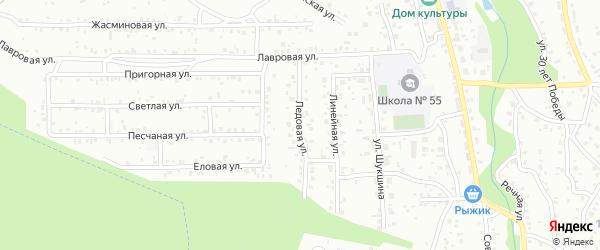 Ледовая улица на карте Улан-Удэ с номерами домов