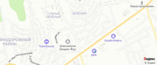Первоцветная улица на карте Улан-Удэ с номерами домов