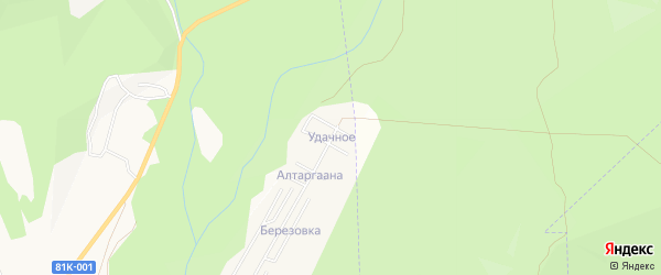 Карта территории ДНТ Удачного города Улан-Удэ в Бурятии с улицами и номерами домов
