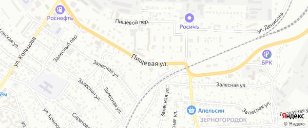 Пищевая улица на карте Улан-Удэ с номерами домов