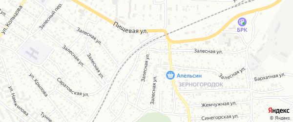 Залесная улица на карте Улан-Удэ с номерами домов