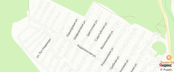 Цветочная улица на карте Улан-Удэ с номерами домов