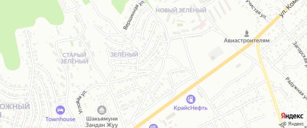 Вечерняя улица на карте Улан-Удэ с номерами домов