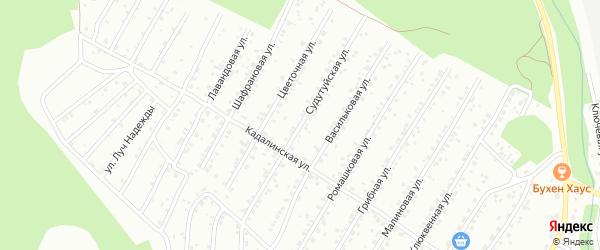 Судутуйская улица на карте Улан-Удэ с номерами домов