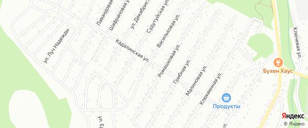 Кадалинская улица на карте Улан-Удэ с номерами домов