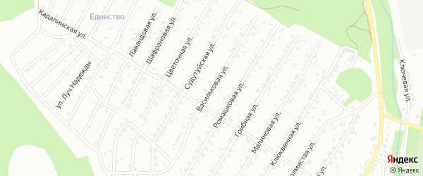 Васильковая улица на карте Улан-Удэ с номерами домов