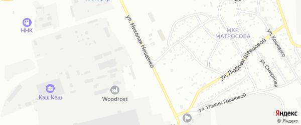 Улица Николая Нищенко на карте Улан-Удэ с номерами домов