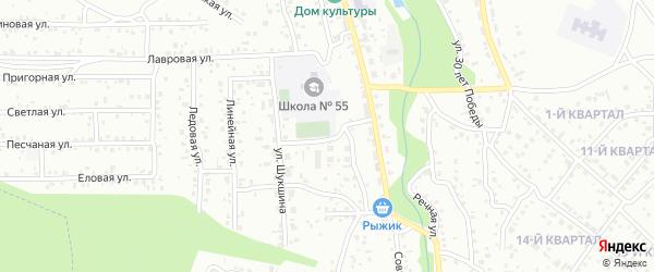 Школьная улица на карте Улан-Удэ с номерами домов