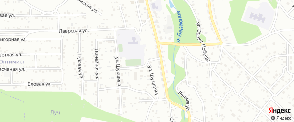 Улица Шукшина на карте Улан-Удэ с номерами домов
