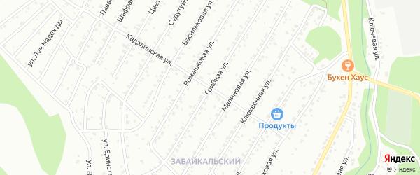 Грибная улица на карте Улан-Удэ с номерами домов
