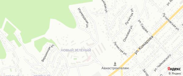 Изумрудная улица на карте Улан-Удэ с номерами домов