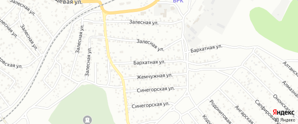 Бархатная улица на карте Улан-Удэ с номерами домов
