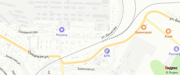 Улица Денисова на карте Улан-Удэ с номерами домов