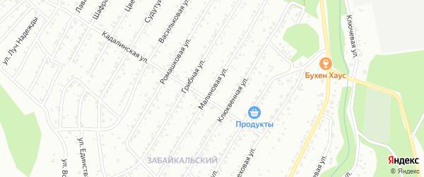 Малиновая улица на карте Улан-Удэ с номерами домов