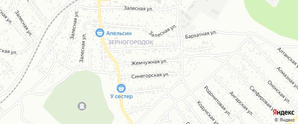 Жемчужная улица на карте Улан-Удэ с номерами домов